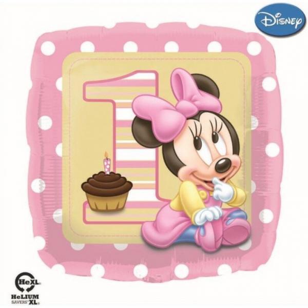 vendita palloncino buon 1 compleanno minnie disney