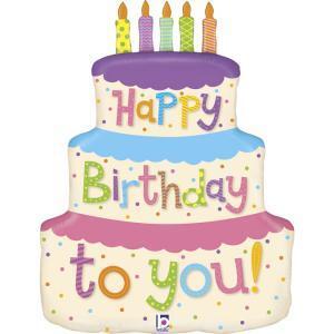 vendita palloncino buon compleanno torta personalizzato
