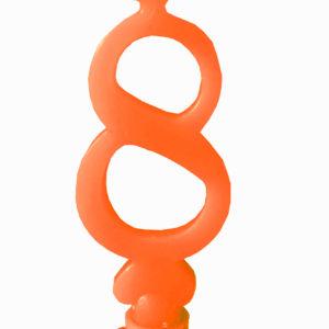 vendita candele 8 arancione